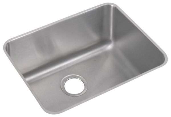 "18 Gauge Stainless Steel 23-1/2"" X 18-1/4"" X 10"" Lustertone Single Bowl Undermount Kitchen Sink"