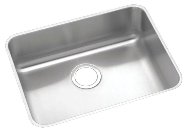 "18 Gauge Stainless Steel 23-1/2"" X 18-1/4"" X 7-1/2"" Lustertone Single Bowl Undermount Kitchen Sink"