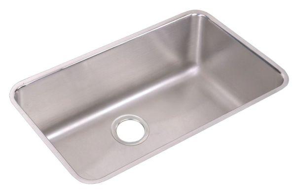 "18 Gauge Stainless Steel 30-1/2"" X 18-1/2"" X 10"" LustertoneSingle Bowl Undermount Kitchen Sink"