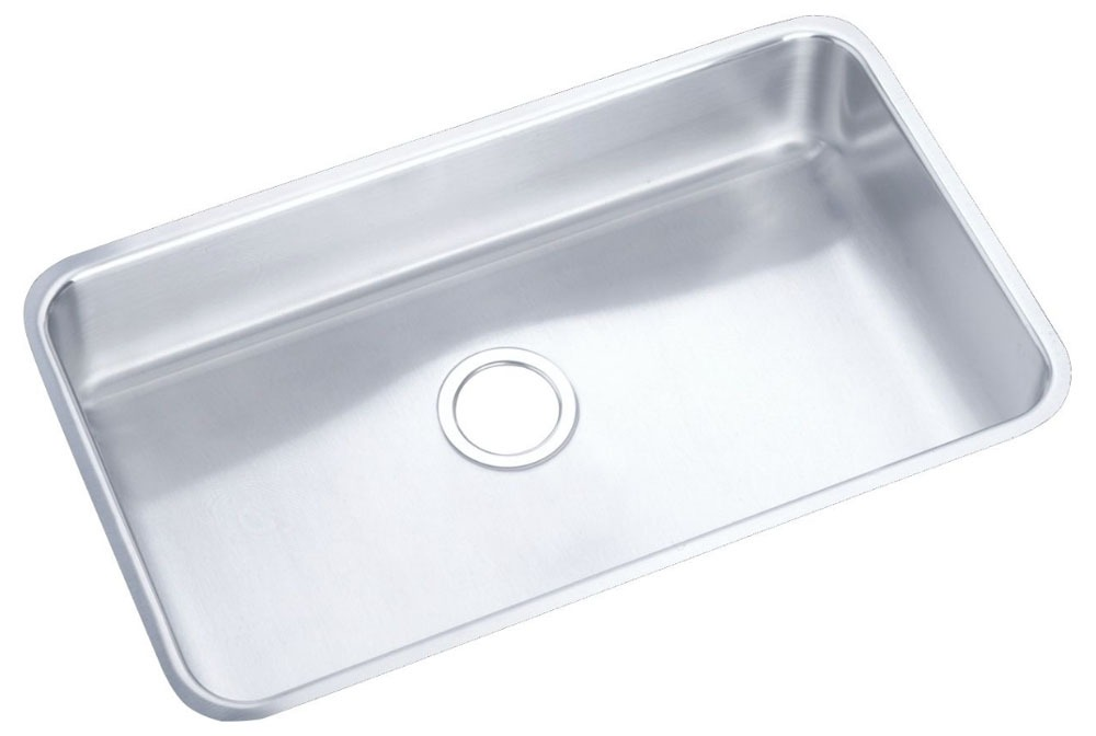 "18 Gauge Stainless Steel 30-1/2"" X 18-1/2"" X 7-1/2"" Lustertone Single Bowl Undermount Kitchen Sink"