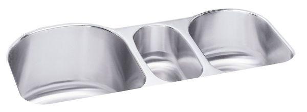 "18 Gauge Stainless Steel 39-1/2"" X 20"" X 10"" Lustertone Triple Bowl Undermount Kitchen Sink"