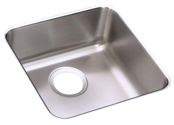 "18 Gauge Stainless Steel 14-1/2"" X 14-1/2"" X 5-3/8"" Lustertone Single Bowl Undermount Kitchen Sink"