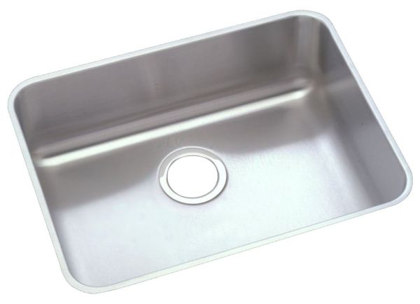 "18 Gauge Stainless Steel 21-1/2"" X 18-1/2"" X 5-3/8"" Lustertone Single Bowl Undermount Kitchen Sink"