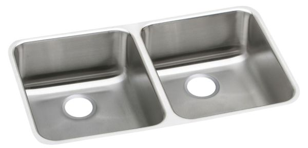 "18 Gauge Stainless Steel 30-3/4"" X 18-1/2"" X 4-7/8"" Lustertone Double Bowl Undermount Kitchen Sink"