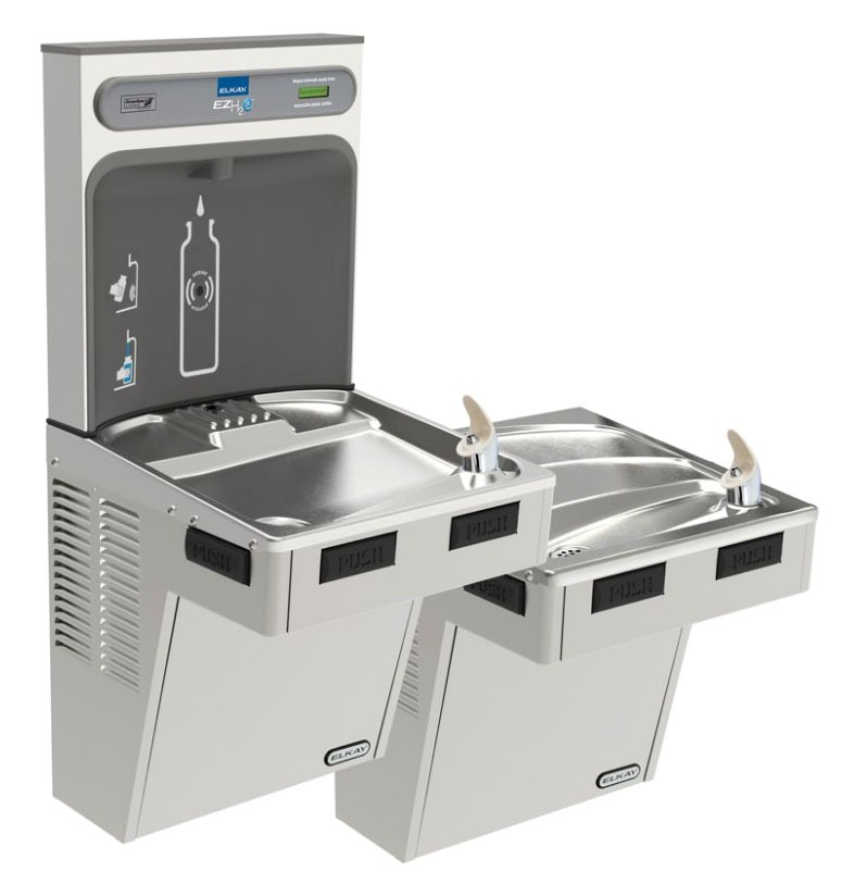 EZH2O Bottle Filling Station with Bi-Level ADA Cooler, Non-Filtered 8 GPH Stainless