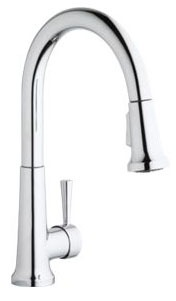 Elkay Single Hole Deck Mount Everyday Kitchen Faucet W/Pull-down Spray Forward Only Lever Handle Chrome