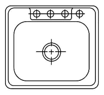 Drop-In Mount Single Bowl Sink - 3-Hole, Stainless Steel