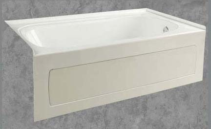 "36"" x 60"" x 19"" Skirted Bathtub - quartz, White"