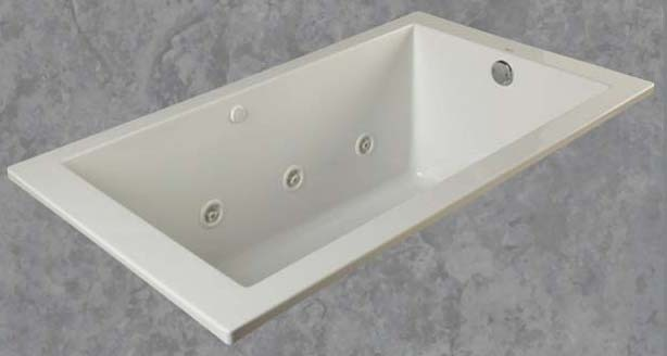"59-3/4"" X 32"" Drop-In Mount Soaker Bathtub, White"