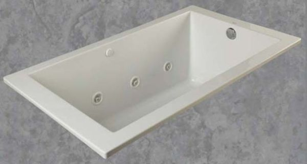"36"" x 60"" x 22-1/4"" Drop-In Bathtub - emerald, Polished White"