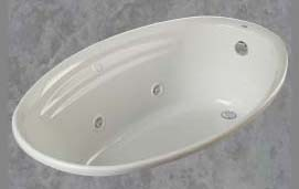 "38"" x 58"" x 20-1/2"" Drop-In Whirlpool Tub - onyx, White"