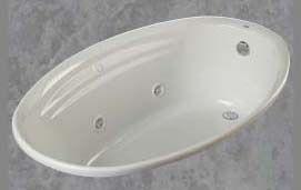"38"" x 58"" x 20-1/2"" Drop-In Bathtub - onyx, Biscuit"