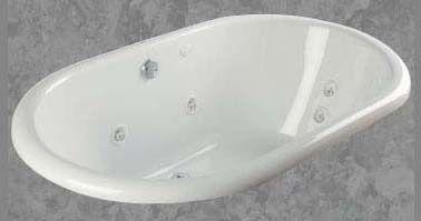 """40"""" x 66"""" x 22"""" Drop-In Bathtub - sapphire, White"""