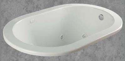 """58"""" x 38"""" x 22-1/2"""" Drop-In Bathtub - garnet, White"""