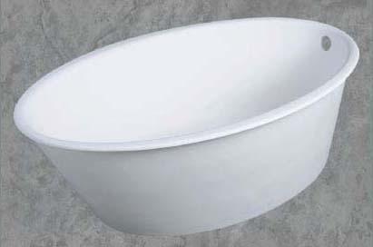 """36"""" x 58"""" x 19.5"""" Drop-In Bathtub - pearl, Matte White"""