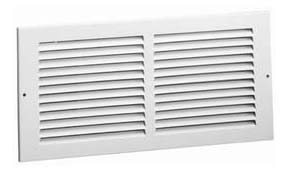 """20"""" x 36"""" Bright White Steel Stamped Face Return Grille - 1/2"""" Fin Spacing"""