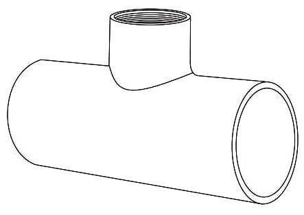 "1"" x 1"" x 1/2"" PVC Reducing Tee - XIRTEC 140, SCH 40, Socket x Socket x FPT"