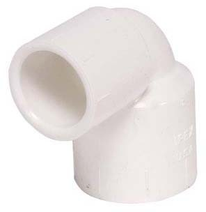 """3/4"""" x 1/2"""" PVC 90D Reducing Elbow - XIRTEC 140, SCH 40, Socket"""