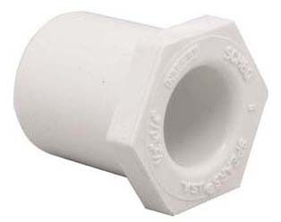 "1"" x 3/4"" PVC Hex Head Reducing Bushing - XIRTEC 140, SCH 40, Spigot x Socket"