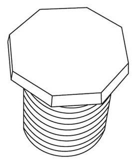 """3/4"""" PVC Octo Head Plug SCH 40"""