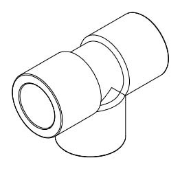 "1-1/2"" PVC Straight Tee - XIRTEC 140, SCH 80, Socket"