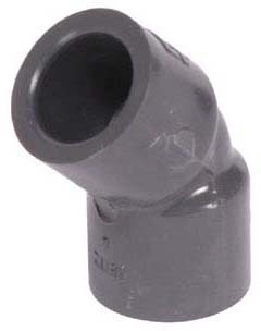 "4"" PVC 45D Straight Elbow - XIRTEC 140, SCH 80, Socket"