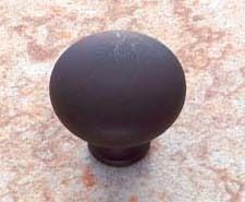 Oil Rubbed Bronze Zamac Cabinet Mushroom Knob - Vintage, Traditional Style