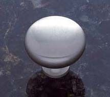 Satin Nickel Zamac Cabinet Mushroom Knob - Vintage, Traditional Style