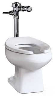 Floor Mount Toilet - Baltic, Elongated Bowl, White, Vitreous China
