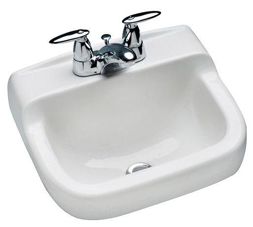 "16 X 13"" Wall Mount Bathroom Sink, Vitreous China"