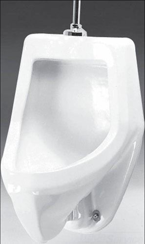 """Commercial Siphon Jet Urinal - Suburban, 1 GPF, 3/4"""" Top Spud Inlet, White"""