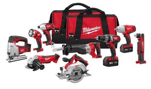 9-Tool Cordless Combination Power Tool Kit - M18