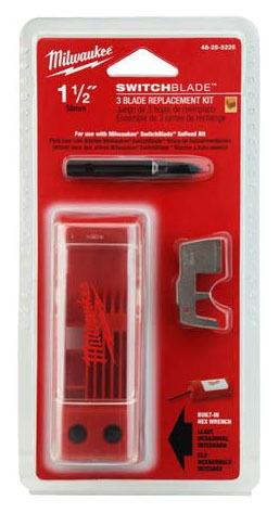 "1-1/2"" 3-Blade Self-Feed Bit Blade Kit - Switchblade, Hardened Steel"