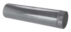 "9"" x 5' Galvanized Steel Snaplock Pipe"