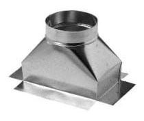 "6 X 12 X 7"" Straight Duct Ceiling Outlet Box, Sheet Metal"