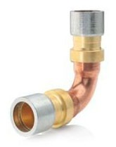 "1-1/8"" Copper 90D Straight Elbow - Lokring, Long Radius"