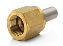 "3/4"" Brass Straight Connector - SAE Flare FPT x Lokring"