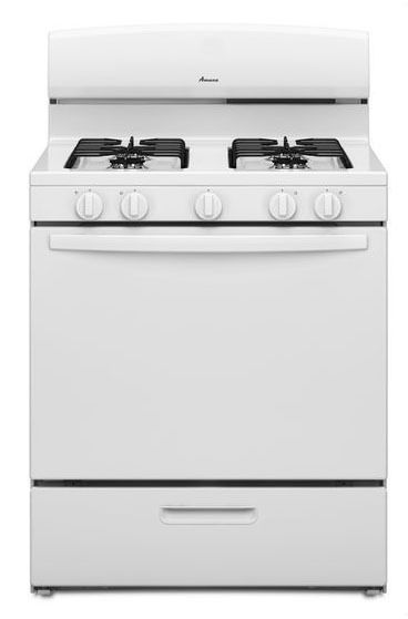 "30"" Freestanding Gas Range - 9500 BTU, 4-Burners, White"