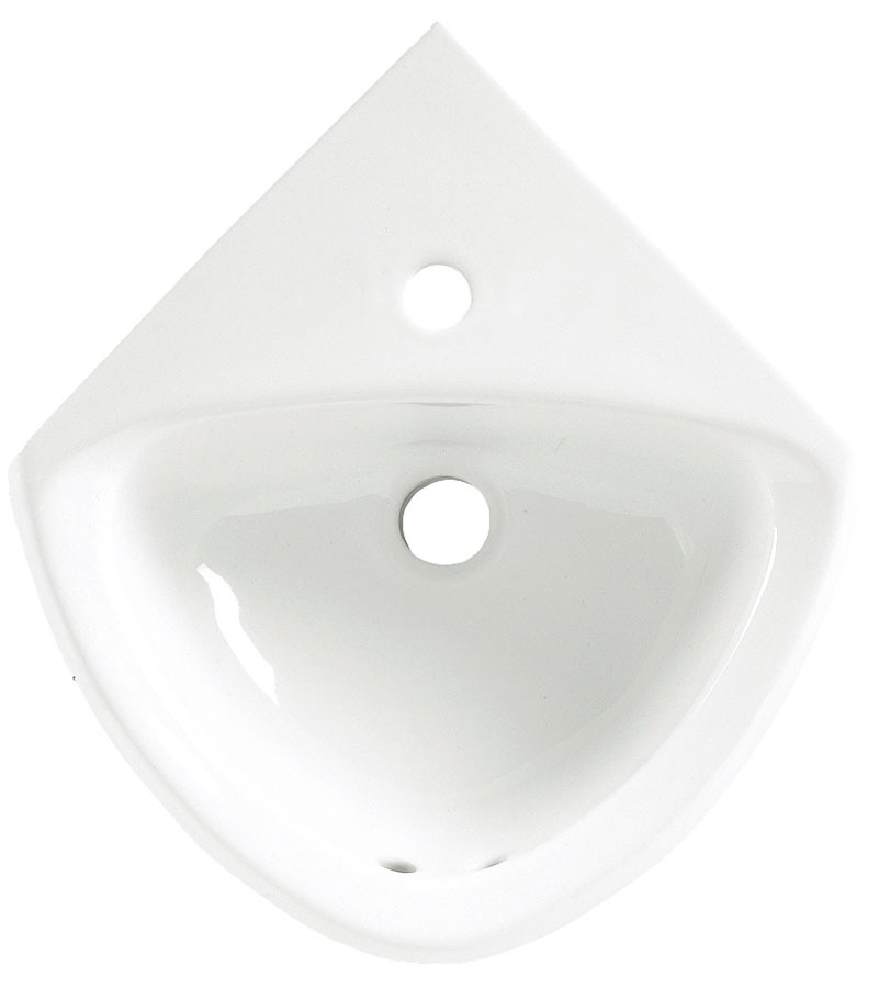 "16-3/4"" x 11"" Wall Hung Bathroom Sink - Minette, 1-Hole, White, Vitreous China"
