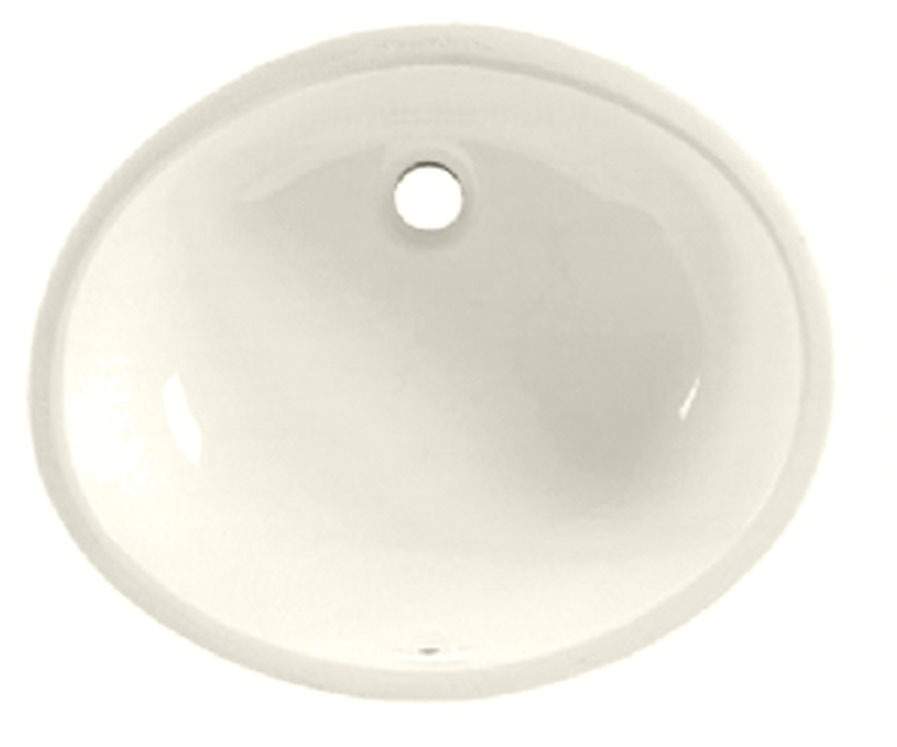 "19-1/4"" x 16-1/4"" Undercounter Bathroom Sink - Ovalyn, Linen, Vitreous China"