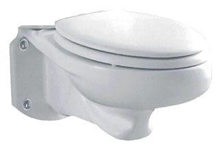 Wall Mount Elongated Toilet Bowl - Glenwall, White, 1.6 Gpf / 6.0 Lpf