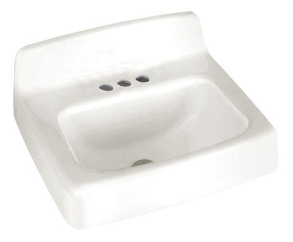 Wall Hung Bathroom Sink, Enameled Cast Iron