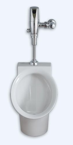 """Commercial Washdown Urinal - Decorum / FloWise, 0.5 GPF, 3/4"""" Top Spud Inlet, White"""