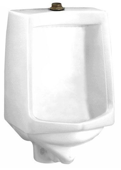 "17-1/2"" x 14"" x 26-3/4"", 1 GPF, White, Vitreous China, Top Spud Inlet, Siphon Jet Flush Action, Urinal"