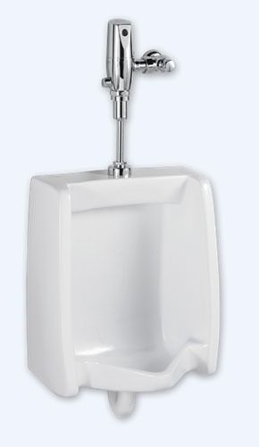 "Commercial Washout Urinal - Washbrook / FloWise, 0.125 to 1 GPF, 3/4"" Top Spud Inlet, White"