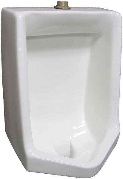 "18-1/2"" x 14"" x 28-3/4"" 1 GPF White Vitreous China Top Spud Inlet Blowout Flush Action Flushing Rim Urinal"