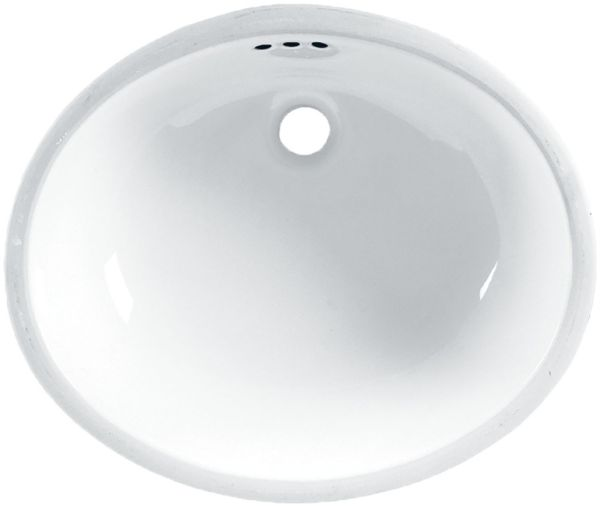 "19-1/4"" x 15-3/4"" Undercounter Bathroom Sink - Ovalyn, White, Vitreous China"