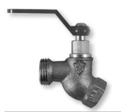 "1/2"" x 3/4"" Brass No-Kink Hose Bibb - FPT x MHT, 125 psi"