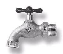 """3/4"""" Brass Standard Hose Bibb - MPT x MHT, 125 psi"""