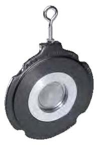 """4"""" Carbon Steel Thin Pattern Swing Check Valve - Wafer, 1480 psi"""